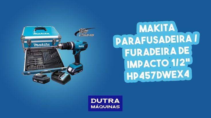 "Makita - Parafusadeira / Furadeira de impacto 1/2"" à bateria 18 volts HP..."