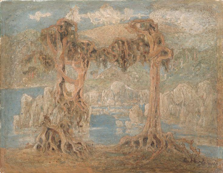 Landscape, 1902, oil on paper.