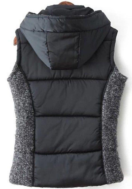 Awesome Vest Design! Love this Vest! Cozy Patchwork Hooded Outdoor Vest