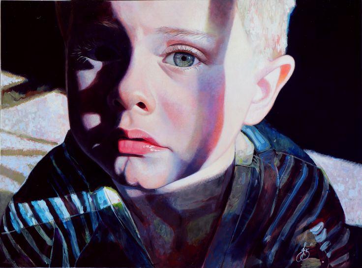 Jasmine Middlebrook - Cross Words (2014) oil on board http://nzartsite.com/exhibitions/jasmine-middlebrook