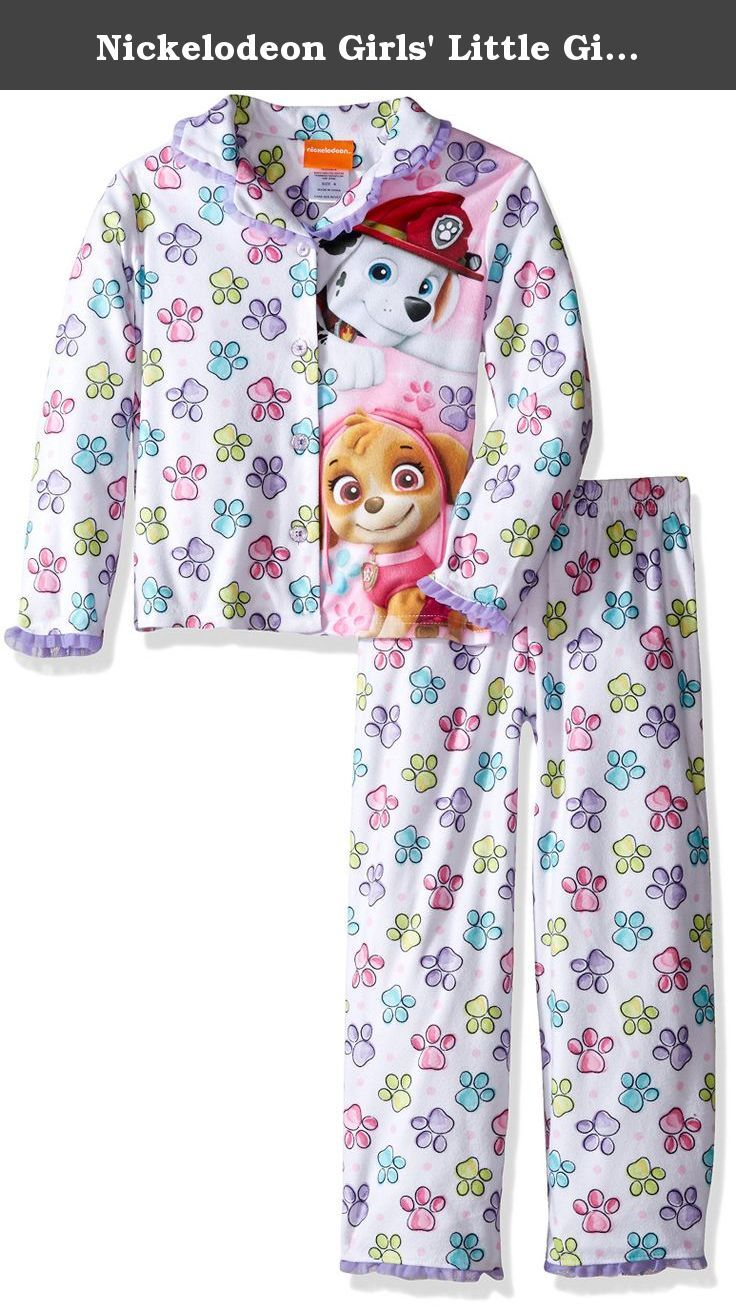 Nickelodeon Girls' Little Girls' Paw Patrol 2-Piece Pajama Coat Set, White, 6. Snuggle into bed with this paw patrol coat style pajama set The bright colors and fun graphics are sure to be a new bedtime favorite Perfect for sleeping and lounging.
