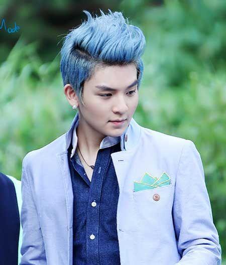 Trendy Men Blue Hairstyles 2016 Blue Grey Hair Bold