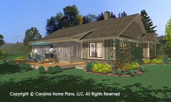 The odd couple the story behind the small home plan for House behind house plans