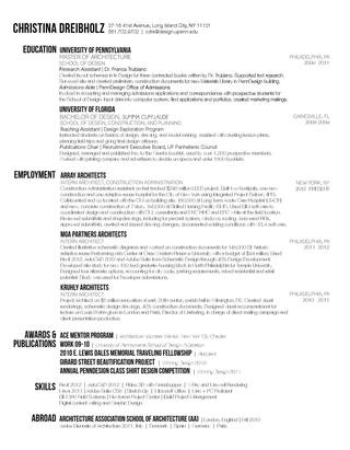 Best Architecture Cv Images On   Cv Ideas Resume
