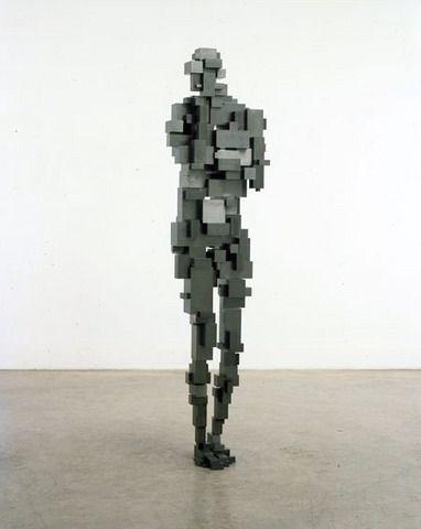 ANTONY GORMLEY  Splice, 2007  mild steel blocks  185 x 47 x 38 cm
