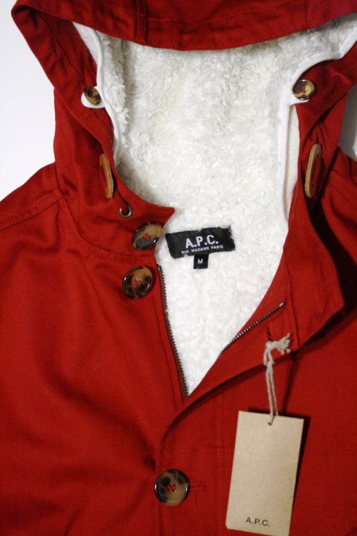 APC Jacket with removable sheepskin liner.