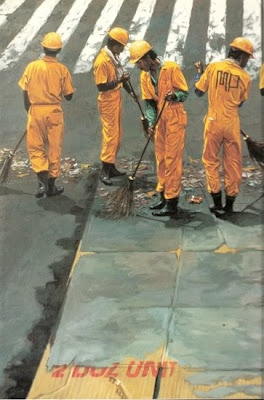 yellow troops 1993 oil on canvas
