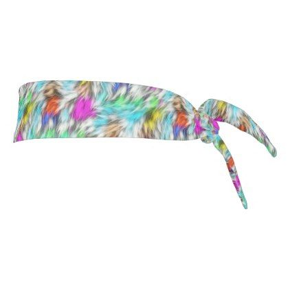 Colorful White Leopard Fur Pattern Tie Headband - fun gifts funny diy customize personal