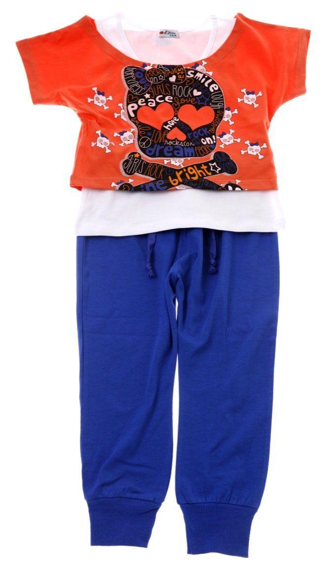 Εβίτα παιδικό σετ διπλή μπλούζα-παντελόνι «Girls Rock»  €16,90