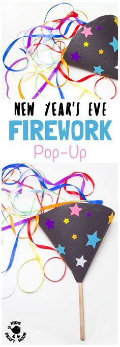 POP-UP FIREWORK CRAFT - DIY homemade fireworks are fun and safe for kids to enjoy the thrill of a firework display again and again! A fabulous New Year's Eve Craft, 4th of July craft or for Bonfire Night or birthday celebrations. Kids will love making and playing with their own pretend fireworks. #FireworkCraft #BonfireNight #NewYearsEve #newyearsevecraft #newyearseveforkids #kidscrafts #kidscraftroom #newyearseveideas #newyearseveactivities