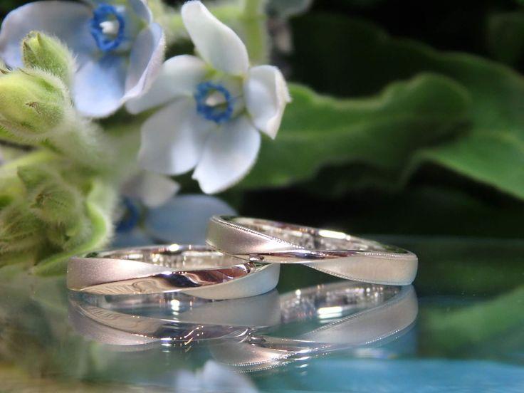 ペア感も、お二人らしさも大切にした結婚指輪 [marriage,wedding,ring,bridal,Pt900,プラチナ,マリッジリング,結婚指輪,オーダーメイド,ウエディング,ith,イズマリッジ]