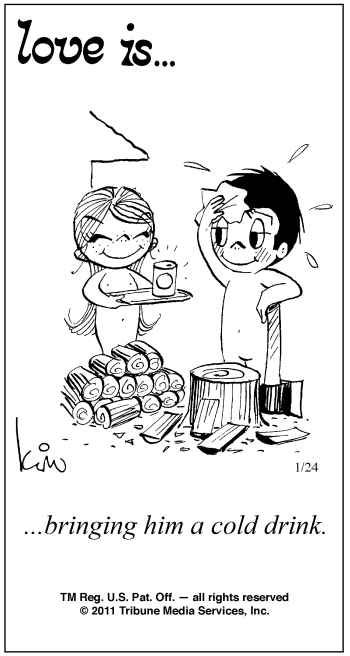 Love Is Comics by Kim Casali | Love Kim Casali January Pictures Pictures to pin on Pinterest