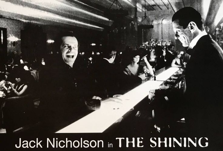 The Shining Jack Nicholson Bar Shot Swedish Import Black ...