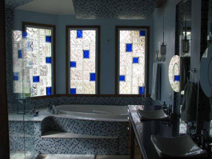 Best Bathrooms With Glass Block Images On Pinterest Bathroom