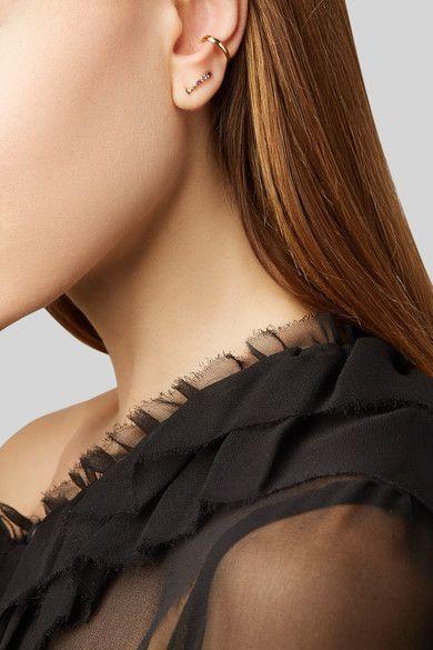 Ana Khouri - Norah 18-karat Gold, Sapphire And Diamond Earrings - one size