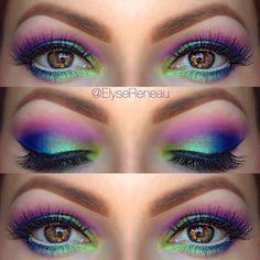 If you're off to a summer festival, light up the party with these Northern Lights eyes. #makeup #summerfestival