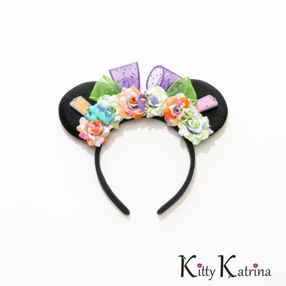 Monsters Inc Mouse Ears Headband Monsters Inc by LUVKittyKatrina