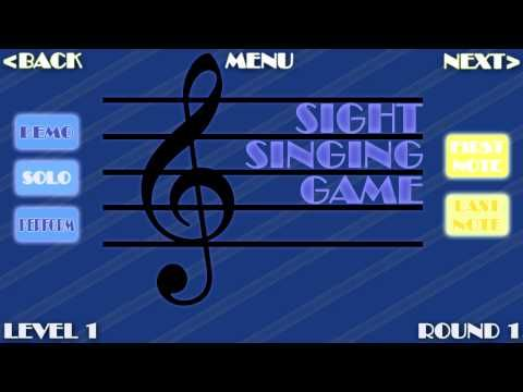 Voice lessons - interactive singing lesson! by sbgalt     ▶ The Sight Singing Game! by sbgalt     I LOVE this ... takes me right back to all of those studio sight singing exams at BU!   ( Kids could inter change and sing the solfege after they got the hang of it! )  Includes various levels of difficulty. http://rogerburnleyvoicestudio.com/