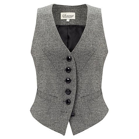 Buy Somerset by Alice Temperley Donegal Tweed Waistcoat, Grey Online at johnlewis.com