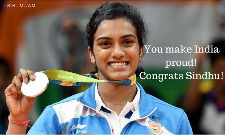 PV Sindhu creates history, wins silver medal in Olympics. Congratulations Sindhu! #history #win #Silver #medal #Olympics #india #badminton #badmintonRio2016 #Rio2016 #RioOlympics2016 #rio #PVSindhu #SindhuSilver #ProudOfSindhu#Congratulations #Sindhu
