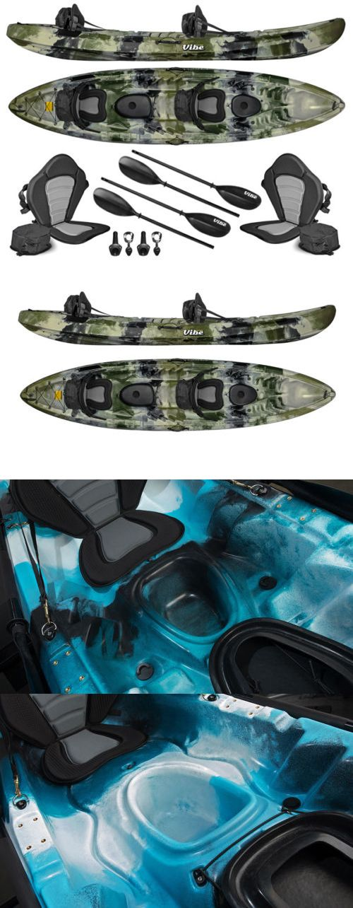 Kayaks 36122: Vibe Skipjack 120T 12 Tandem 3 Person Fishing Kayak+Paddles (Hunter Camo) -> BUY IT NOW ONLY: $778 on eBay!