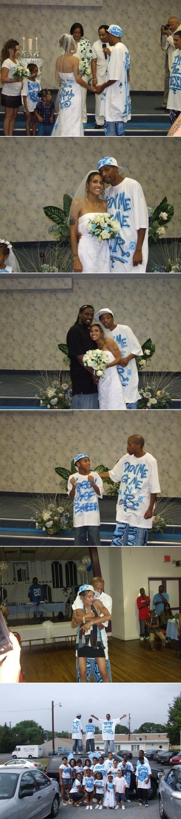 Happy Ghetto Wedding // funny pictures - funny photos - funny images - funny pics - funny quotes - #lol #humor #funnypictures