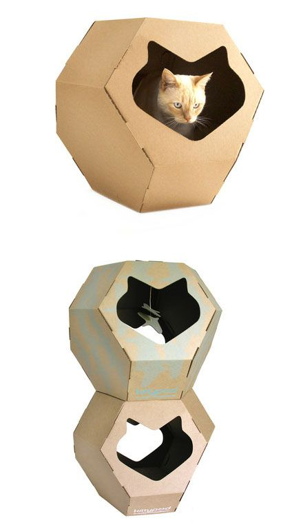 Geodome cat house