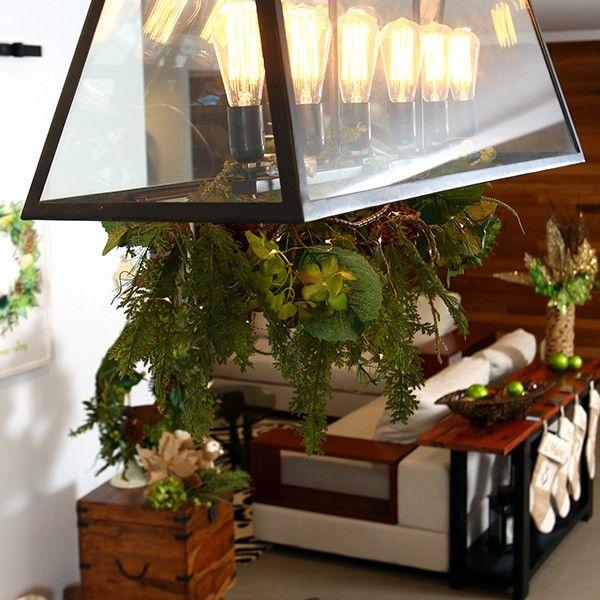 Fresh Floral Hydrangea Christmas Garland in Fresh Forest Lifestyle
