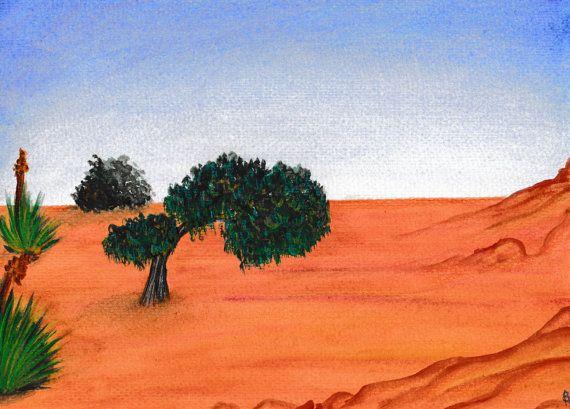 Desert Landscape by TreasuresofTerranora on Etsy