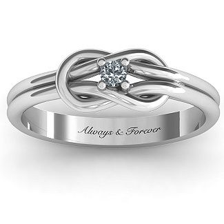 Love Knot Ring | Jewlr so pretty! I love it!