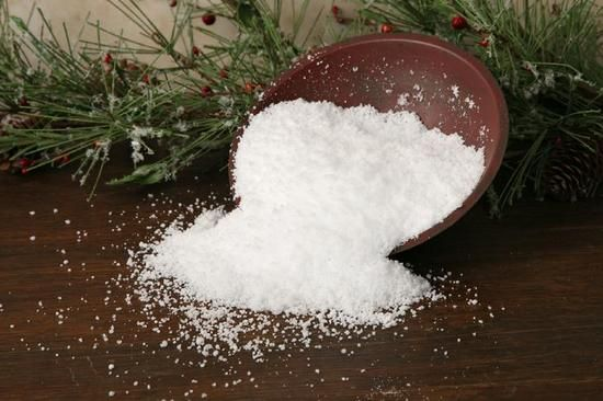 artificial snow that actually looks and feels like real snow- without all the melting.  For winter wedding decor