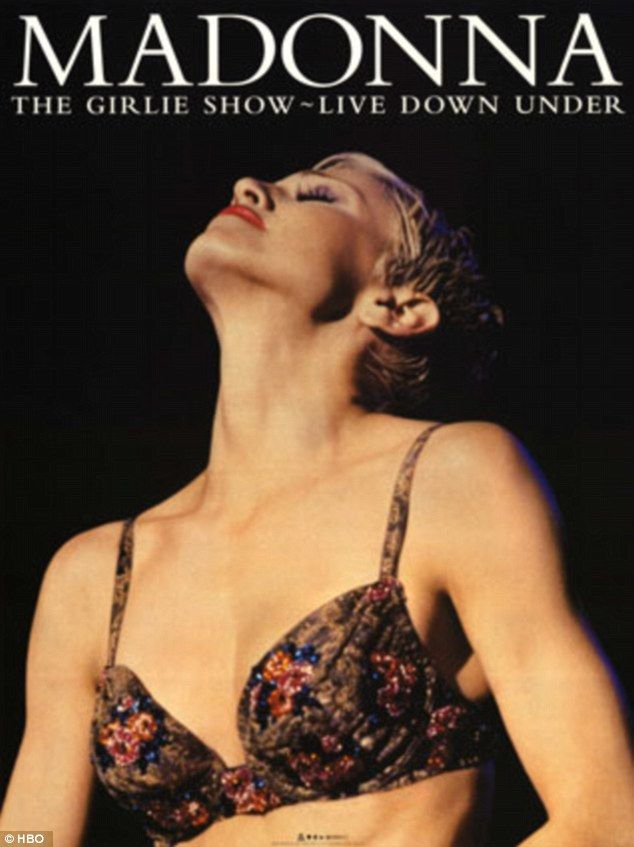 Making her return: The last time Madonna filmed concert footage in Australia was at the Sydney Cricket Ground in 1993, which was later released on video tape as The Girlie Show: Live Down Under