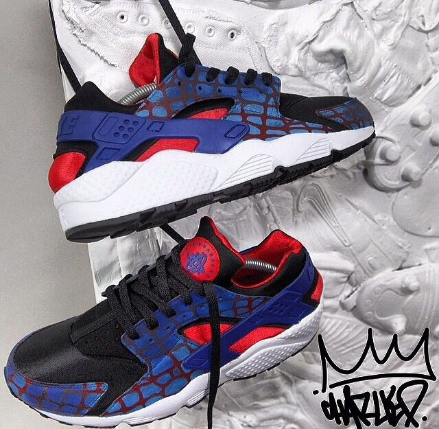 d988a6f203 ... coupon for custom nike huarache red blue black camo print design  trainers dope swag footwear streetwear