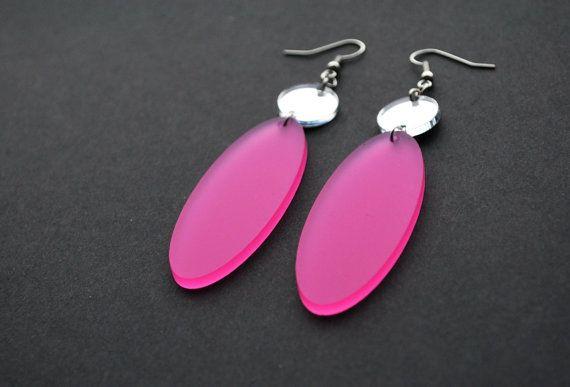 Drop earrings geometric earrings teardrop earrings by elfinadesign