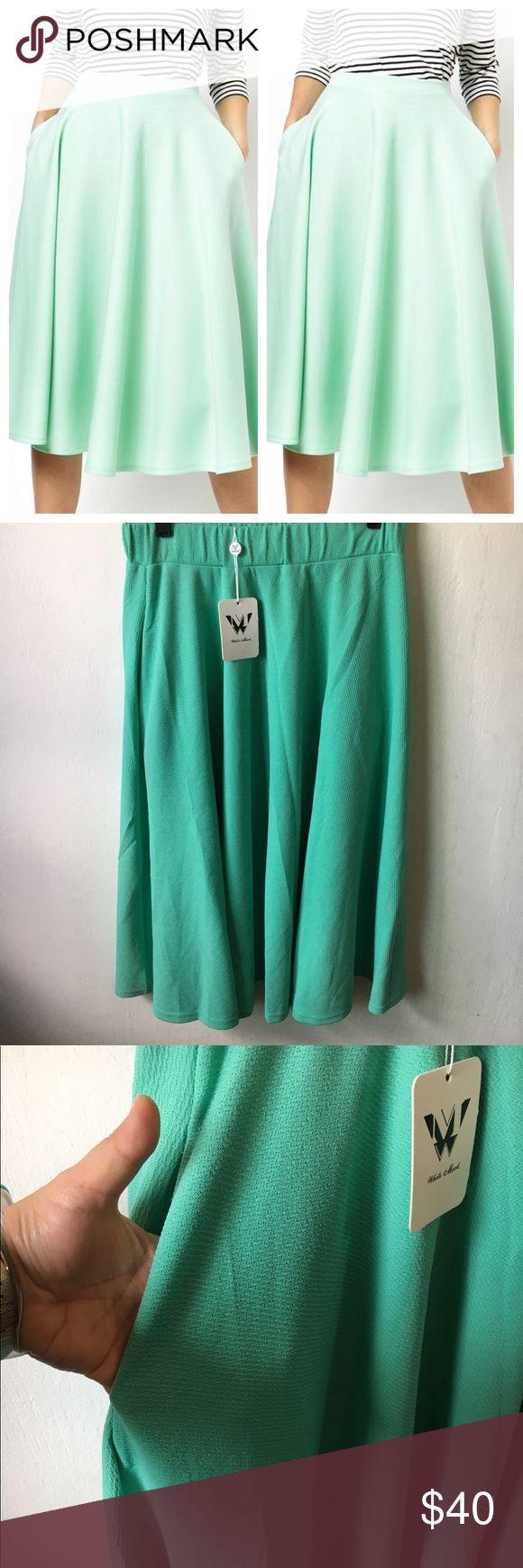 Mint Green Flutter Skirt Size XL Mint Green Flutter Skirt Size XL, brand new with tags. Elastic waistband. Side pockets- boutique brand Skirts