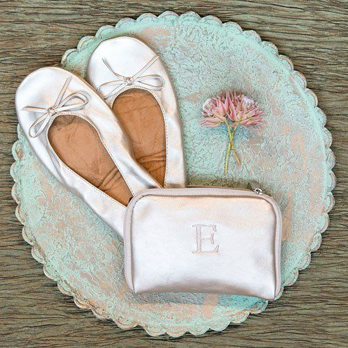 Foldable Ballet Flats With Pouch -  4 colors