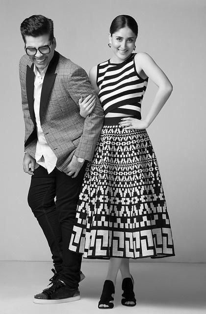 Karan with Kareena sizzle on Harper Bazaar shoot...photos
