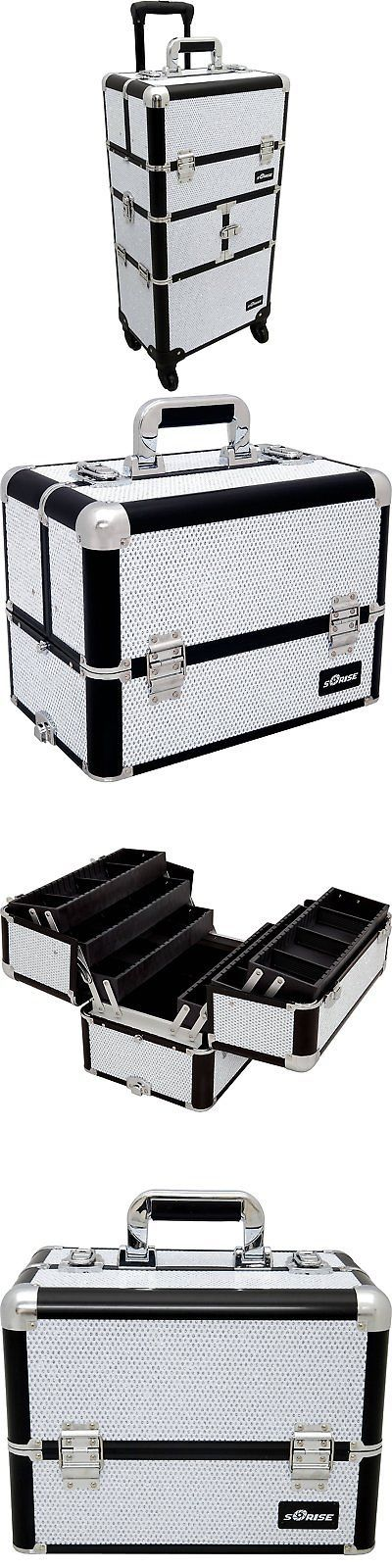 Rolling Makeup Cases: Sunrise I3464 Professional 2-In-1 Rolling Makeup Artist Cosmetic Train Case -> BUY IT NOW ONLY: $217.23 on eBay!