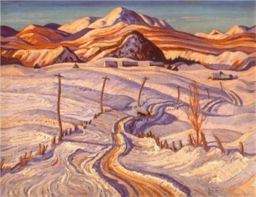 Winter Morning, Charlevoix County - A.Y. Jackson, 1933