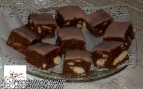Sütés nélküli puncskocka recept fotóval