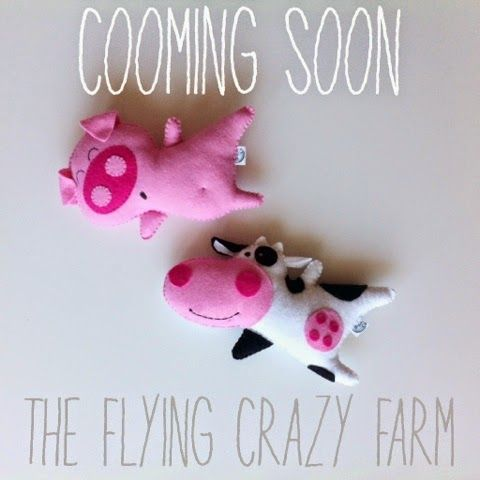 Baby mobile with farm animals, nursery mobile, crib mobile #obyshandmade