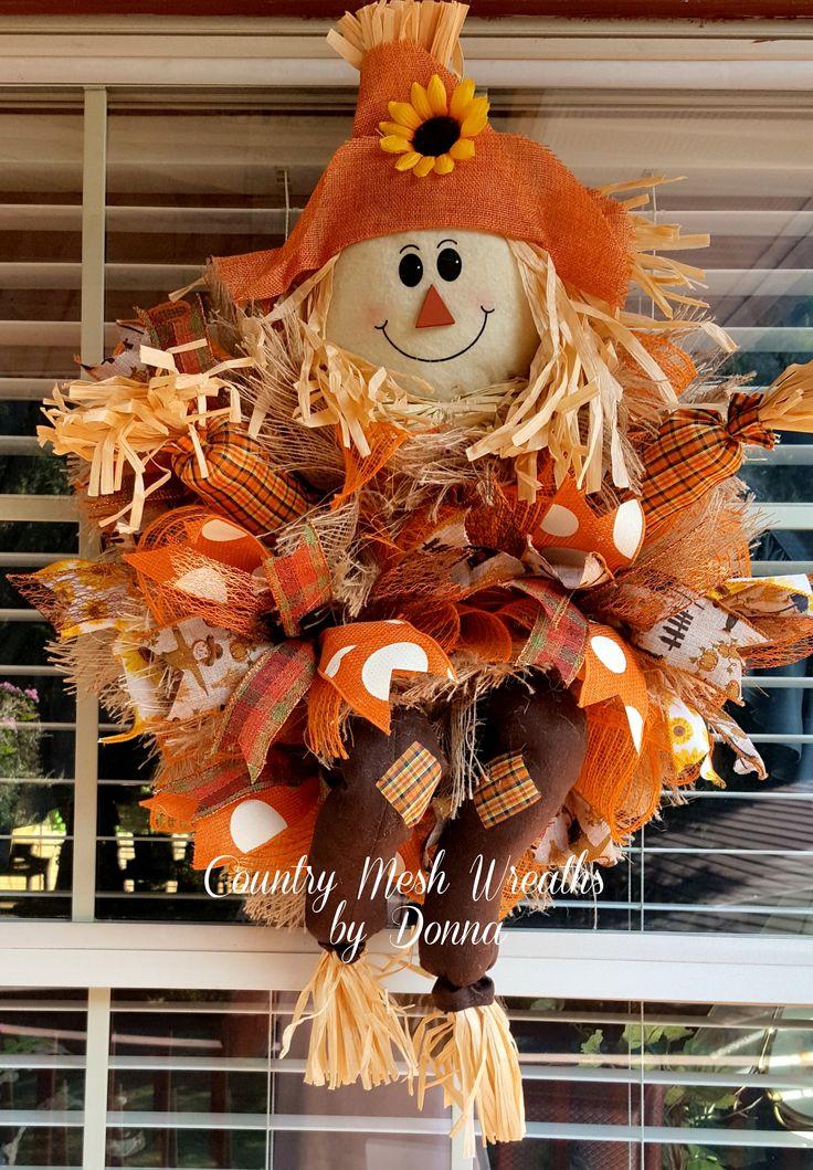 Best 25+ Scarecrow wreath ideas on Pinterest | Halloween ...