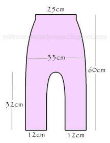 mi rincón de mariposas: Pantalón sarouel talla 3 años