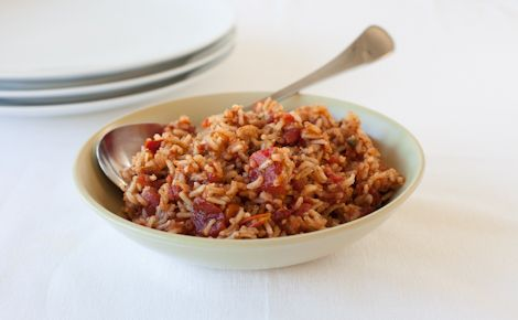 Epicure's Jambalaya Rice: Brown rice boosts daily fibre content – important for heart health and weight maintenance. Make extra and freeze for an easy anytime meal.