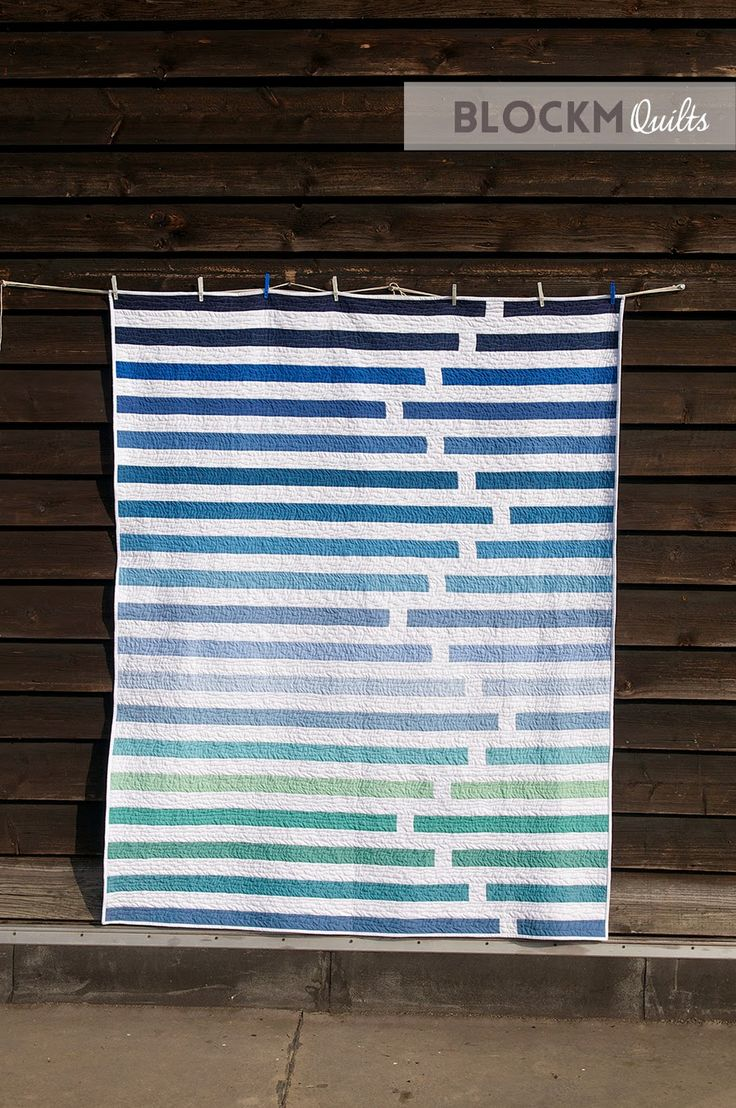 "Fun ""Regatta"" quilt by Daniela O'Connell of Block M Quilts."