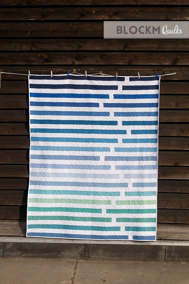 """""""Regatta"""" Quilt by Daniela O'Connell of Block M Quilts via BlockMQuilts.Com"""