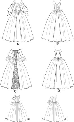 Medieval/Victorian/Colonial Dress PATTERN Wedding OOP!
