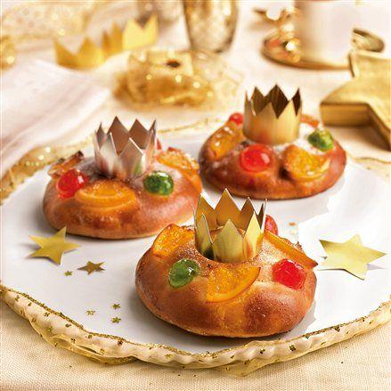 Mini roscones de reyes con frutas