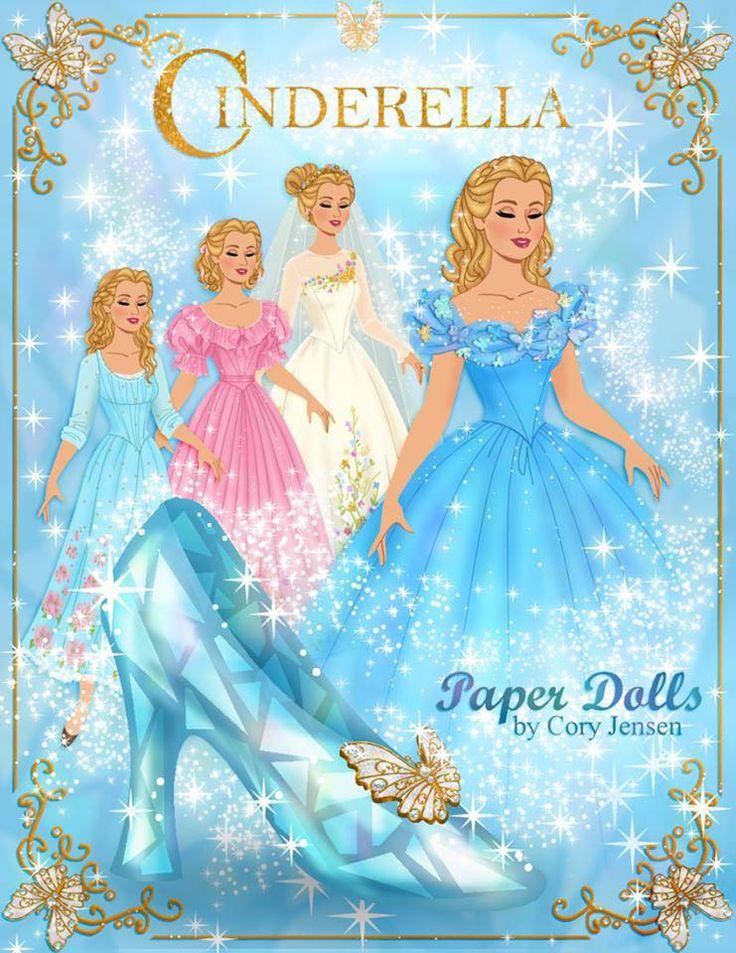 Free Printable Cinderella Paper Dolls by Cory | SKGaleana