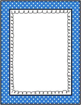FREE POLKA DOTS COLORFUL GRAPHIC FRAMES - 90 PIECE MEGA SET!